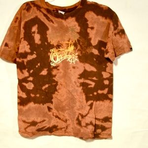 Oneil Upcycle Choclate Brown Psychedelic T Shirt L